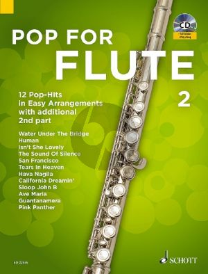 Pop for Flute 2 ( 12 Pop-Hits in easy arrangements with additional 2nd part) (Bk-Cd) (arr. Uwe Bye)