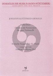 Arnold Sechs Duos (Themen mit Variationen) 2 Violoncellos (ed. Andreas Wolfgang Flad)