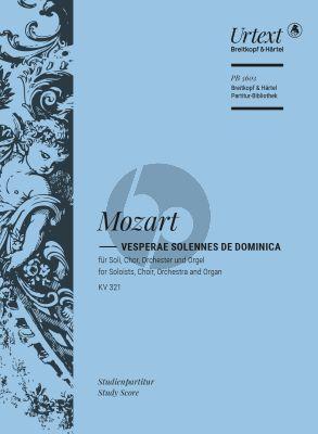 Mozart Vesperae solennes de Dominica KV 321 Soli-Choir-Orch.-Organ Study Score) (edited by Ulrich Konrad)