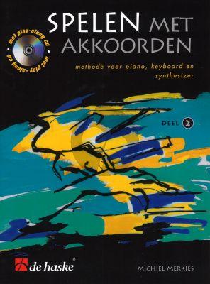 Merkies Spelen met Akkoorden Vol.2 (Boek-Cd) (Methode voor piano, keyboard en synthesizer)
