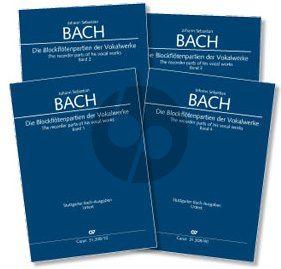 Bach Die Blockflötenpartien der Vokalwerke (4 Bände im Set) (Klaus Hofmann und Peter Thalheimer)