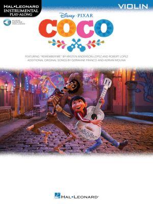 Disney Pixar's Coco Instrumental Play-Along Violin (Book with Audio online)