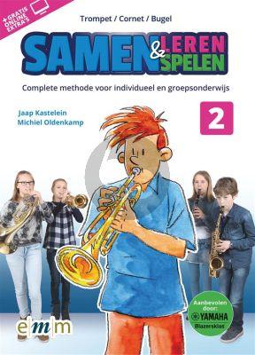 Kastelein-Oldenkamp Samen Leren & Samenspelen Vol.2 Trompet Boek-Audio-Online