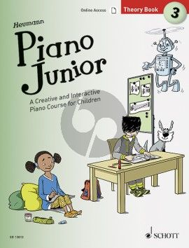Heumann Piano Junior: Theory Book 3 (A Creative and Interactive Piano Course for Children) (Book with Audio online)