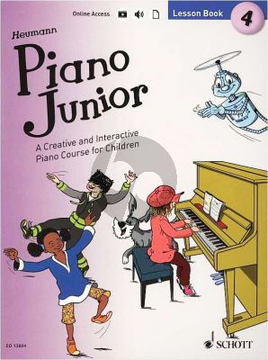 Heumann Piano Junior Lesson Book 4 (Book with Audio online)