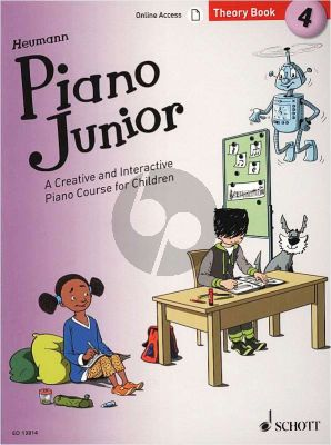 Heumann Piano Junior: Theory Book 4 (A Creative and Interactive Piano Course for Children) (Book with Audio online)