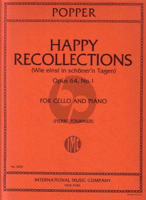 Popper Happy Recollections Op.64 No.1 Cello-Piano