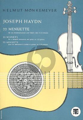 Haydn 22 Menuette Violine-Gitarre oder 2 Gitarren Monkemeyer Spielpartitur