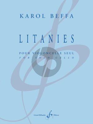 Beffa Litanies Violoncelle seule