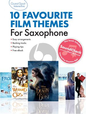 Guest Spot Interactive: 10 Favourite Film Themes for Saxophone (Book with Audio online)