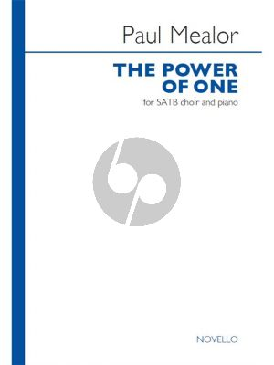 Mealor The Power of One SATB-Piano