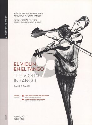 Gallo El Violin en El Tango (The Violin in Tango English/Spanish) (Book with Audio Online)