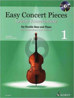 Easy Concert Pieces Vol.1 Double Bass-Piano (edited by Charlotte Mohrs)