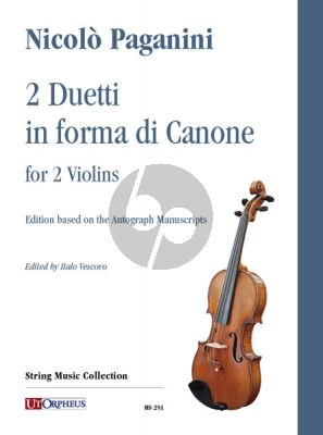 Paganini 2 Duetti in forma di Canone for 2 Violins (edited by Italo Vescovo)