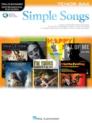 Simple Songs Instrumental Play-Along Tenor Saxophone (Book with Audio online)