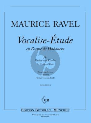Ravel Vocalise-Étude en Forme de Habanera Violine-Klavier (Heiko Stralendorff)