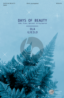 Gjeilo Days of Beauty (SSAA-Piano English Text Emily Bronte) (Choral Score)