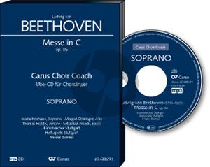 Beethoven Messe C-dur Op.86 SATB soli-SATB-Orch. (lat.) Bass Chorstimme CD (Carus Choir Coach)