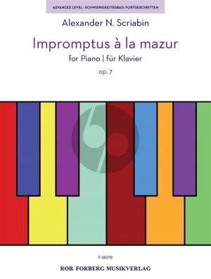 Scriabin 2 Impromptus à la Mazur Op.7 Piano solo