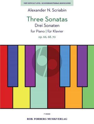 Scriabin 3 Sonatas Op.66, Op.68, Op.70 Piano solo