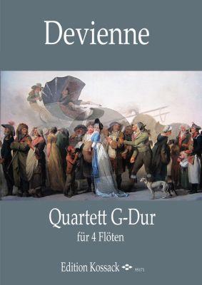 Devienne Quartett G-Dur 4 Flöten (Part./Stimmen)