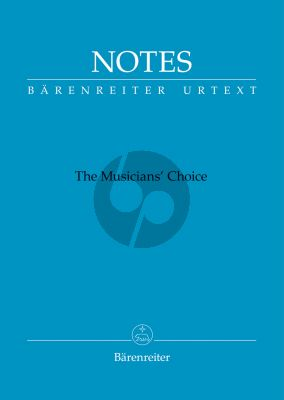 Notes. The Musician's Choice Bärenreiter notebook with the Bach blue cover