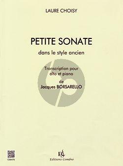 Choisy Petite sonate dans le style ancien Viola-Piano