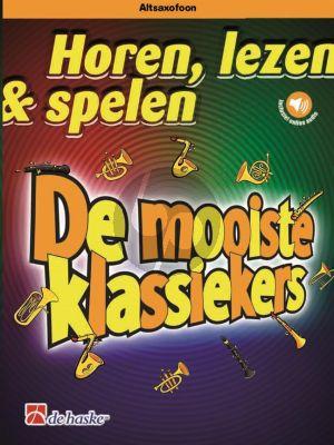 Schenk Horen, lezen & spelen - De mooiste klassiekers Altsax.-Piano (Boek met Audio online)