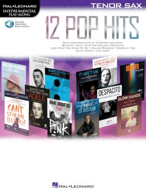 12 Pop Hits Instrumental Play-Along Tenor Sax. (Book with Audio online)
