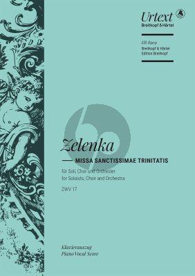 Zelenka Missa Sanctissimae Trinitatis a-moll ZWV17 Soli-Chor-Orchester Klavierauszug (Thomas Kohlhase)