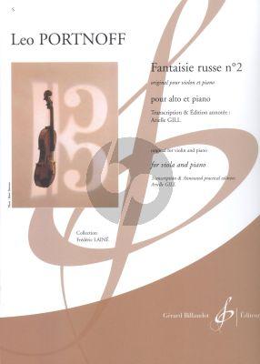 Portnoff Fantaisie russe No.2 Viola-Piano (transcr. Arielle Gill)
