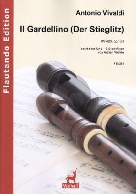Vivaldi Il Gardellino (Der Stieglitz) RV 428 (Op.10 No.3) 5-6 Blockflöten (Part./Stimmen) (arr. Adrian Wehlte)