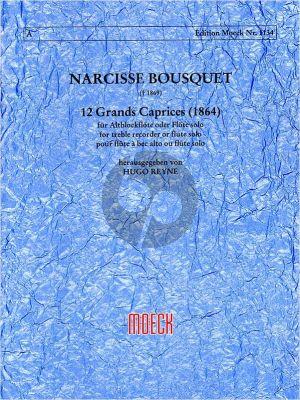Bousquet 12 Grands Caprices (1864) Altblockflöte (Reyne)