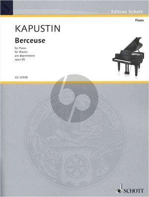 Kapustin Berceuse Op.65 Piano solo