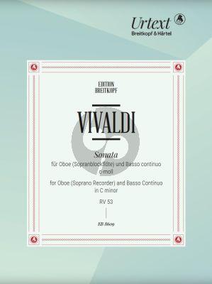 Vivaldi Sonate c-moll RV 53 Oboe[Sopranblockflote] und Bc (Urtext edited by Martin Nitz)