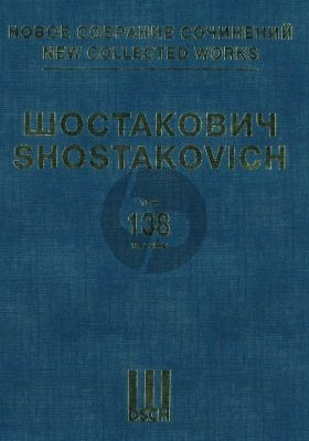 Shostakovich The Gadfly - Film music Op. 97 Score (New Collected Works. Vol.138)