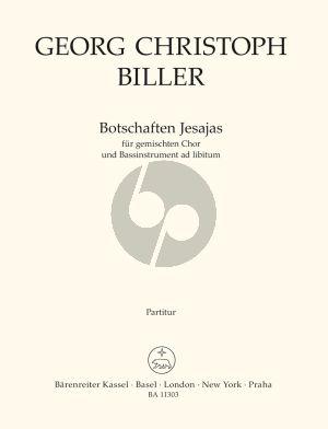 Biller Botschaften Jesajas for Mixed Choir (SSAATTBB) and Bass Instrument ad libitum