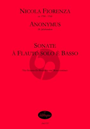 Fiorenza 4 Sonate à flauto solo è basso fur Blockflote-Bc Partitur/Stimmen (Bc ausgesetzt) Ed. Olaf Tetampel