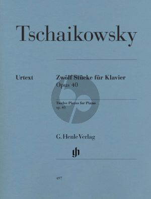 Tchaikovsky 12 Stucke Op.40 Klavier (edited by Korabelnikova and Vajdman) (Henle-Urtext)
