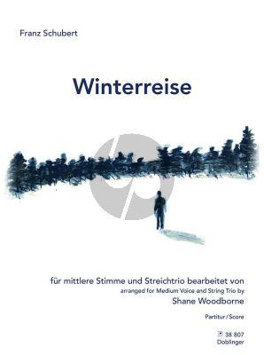 Schubert Winterreise für mittlere Stimme und Streichtrio Partitur (arr. Shane Woodborne)
