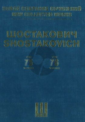 Shostakovich Motherland, My Native Leningrad (1942) Op.63 Suite for Soloists, Choir and Orchestra Score