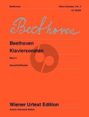 Beethoven Sonaten Vol.3 Klavier (Hauschild/Reutter) (Wiener-Urtext)