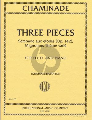 Chaminade 3 Pieces Flute and Piano (edited by Graham Bastable)