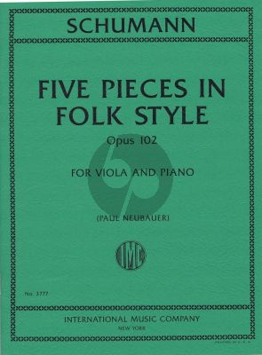 5 Pieces in Folk Style Op.102 Viola and Piano