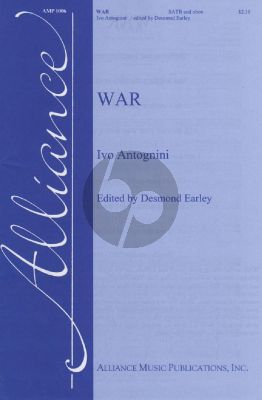 Antognini War SATB and Oboe (PianoPart for Rehearsel Only) (Edited by Desmond Earley)