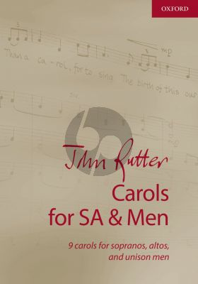 Rutter Carols for SA-Men Vocal Score