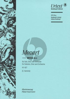 Mozart Missa in C-minor K. 427 / 417a Soli-Chor-Orch. (Vocal Score) (Edited by Clemens Kemme)