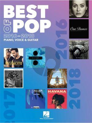 Best of Pop 2016-2018 Piano-Vocal-Guitar