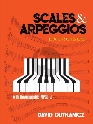 Dutkanicz Scales and Arpeggios: Exercises Piano solo (Book with Audio online)