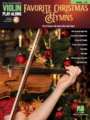 Favorite Christmas Hymns (Violin Play-Along Series 77) (Book with Audio online)